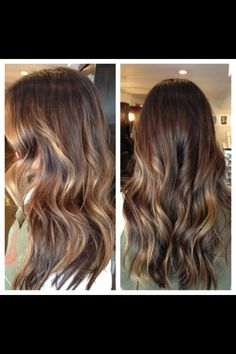 Balayage. Brunette. Natural color. By Robyn!