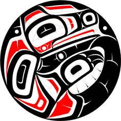 Gitxsan Artist Nathaniel Wilkerson, Native Artist from the Pacific Northwest. Haida Tattoo, Haida Kunst, Haida Art, Tribal Animal Tattoos, Kunst Der Aborigines, Raven And Wolf, Native American Totem, Arte Tribal, Raven Art