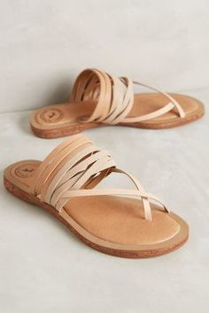 Tan strappy sandals #anthrofave