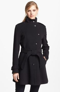 Cole Haan Wool Blend Officer's Coat (Regular & Petite) (Online Only) available at #Nordstrom