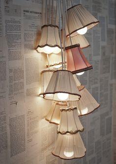 Super leuke ideeën om met oude #omalampen weer iets nieuws te maken voor ene #sfeervolle #interieur!