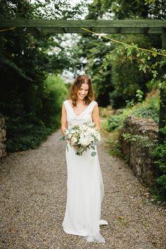 Be inspired by Dee & James' effortlessly elegant garden party wedding at Cloughjordan House In Bloom Florist, Boho Gown, Bridal Jumpsuit, Garden Party Wedding, Wedding Flowers, Wedding Dresses, Bridal Style, Bride, Bridal Bouquets