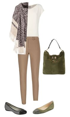 Натуральный стиль by anna-lopatin on Polyvore featuring Alberto Biani, See by Chloé, Uniqlo, Jimmy Choo, Cliffs by White Mountain and J.W. Anderson