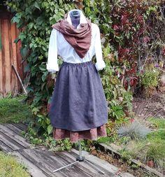 Buy No. 177 Skirt boho linen - skirt boho, skirt balloon