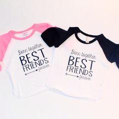 Twins T-shirt  best friends forever Inspirational by blueenvelope