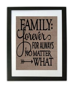 Family is Forever Sign/ Rustic Home Decor/ Inspirational Print/ Welcome Sign/ Rustic Print/ Gift for Her/ GIft for wedding/ gift for mom by momakdesign on Etsy
