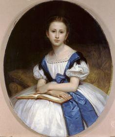 Portrait de Mlle Brissac  by William Bouguereau (ARC)
