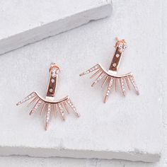 9 Spike Ear Jacket - Rose Gold – The Faint Hearted