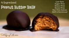 Low Carb PEANUT BUTTER BALLS One of my favorite treats! I used to make these years ago but now, reflecting back on the ingredient list, I can't believe I used to eat so many! 4 cups of powdered sugar… W… Low Carb Candy, Low Carb Sweets, Low Carb Desserts, Keto Candy, Sugar Free Peanut Butter, Peanut Butter Balls, Almond Butter, Almond Flour, Low Carb Recipes