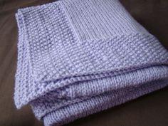 modele de couverture tricot pour bebe gratuit Marie Claire, Double Knitting Patterns, Free Pattern, Projects To Try, Baby Boy, Plaid, Diy, Inspiration, Patron Crochet