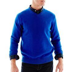 St. John's Bay® Midweight V-Neck Sweater - JCPenney