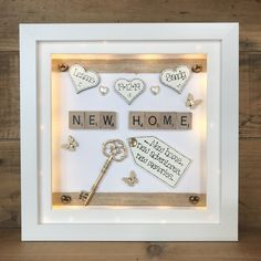 Scrabble Crafts, Scrabble Frame, Scrabble Art, Memory Box Frame, Box Frame Art, 3d Box Frames, Personalised Childrens Gifts, Personalised Frames, Personalized Gifts