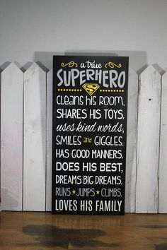 A true SUPERHERO/Subway Style/Boy's bedroom sign/Room