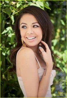 Janel Parrish~Mona on PLL. She is from Hawaii and went to Moanalua High School. One day I want to meet her.