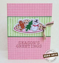 Hero Arts Cardmaking Idea: Mmm Cookies!