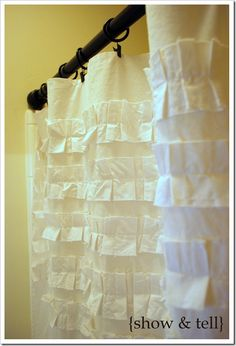 How to make this white shower curtain for upstairs bath!