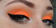orange eye shadow | neon orange eyeshadow...maybe add some white to the liner for a little ...