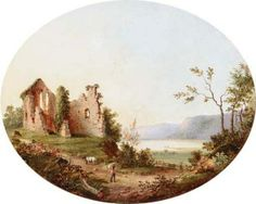 Andrew Andrews (1837-?) ~  Ruins By A Lake