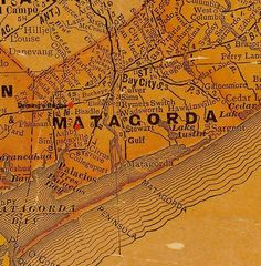 TX Matagorda County vintage map