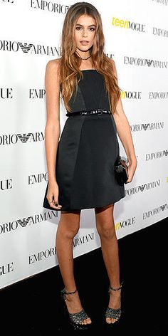Kaia Gerber (Cindy Crawford's daughter!) at Teen Vogue's Young Hollywood party