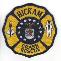 Hickam Air Force Base Crash Rescue Department Patch Hawaii HI Fire Dept, Fire Department, Hawaii Fire, Air Force Bases, Patch Hawaii, Firefighter, Patches, Kids Rugs, Firemen