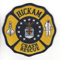 Hickam Air Force Base Crash Rescue Department Patch Hawaii HI Fire Dept, Fire Department, Hawaii Fire, Air Force Bases, Patch Hawaii, Firefighter, Patches, Firemen, Kids Rugs