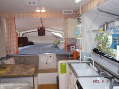Cute ideas for sprucing up a tent trailer via This House We Call Home