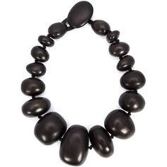 Monies chunky bead necklace (8 600 ZAR) ❤ liked on Polyvore featuring jewelry, necklaces, brown, wooden necklaces, brown bead necklace, beaded jewelry, wood bead necklace and brown necklace