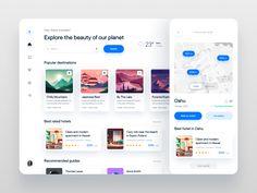 Web Design, Dashboard Ui, Branding, Ui Inspiration, User Interface, App, Cards, Travel, Studio