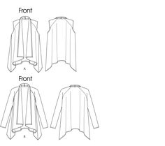 Butterick pattern for waterfall cardigan