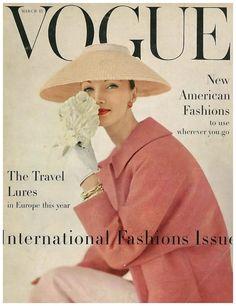Evelyn Tripp, photo by Karen Radkai, Vogue US, March 15, 1956*