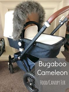 Bugaboo Cameleon 1,2 & 3 Pram/Pushchair Hood Canopy Fur Trim - Make it Cosy for Winter
