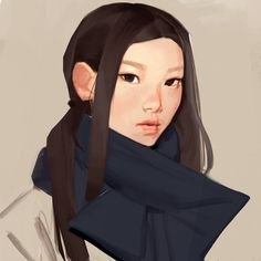 Kai Fine Art is an art website, shows painting and illustration works all over the world. Digital Portrait, Portrait Art, Painting Portraits, Character Drawing, Character Design, Digital Illustration, Art Inspo, Character Inspiration, Amazing Art