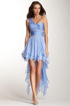 One Shoulder Sequin Dress by La Femme on @HauteLook