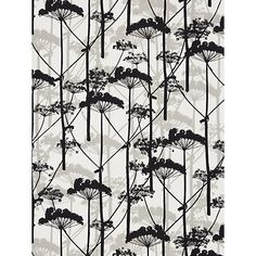 Marimekko Putkinotko Wallpaper - probably too much black for the feature wall but love the oriental theme Wallpaper Online, Wall Wallpaper, Pattern Illustration, Botanical Illustration, Dry Leaf, Graphic Design Print, Textile Prints, Textiles, Marimekko