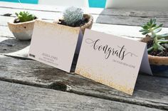 Realtor Real Estate Congrats gold confetti NOTECARDS for realtor gift and farming by RealEstatedesigns Real Estate Sign Design, Real Estate Signs, Real Estate Branding, Realtor Gifts, Gold Confetti, Note Cards, Place Card Holders, Farming, Handmade Gifts