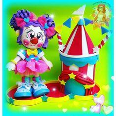 Circus Theme Party, Carnival Birthday Parties, Party Themes, Circo Do Mickey, Cute Clown, Ideas Para Fiestas, Nursery Themes, Candy Colors, 2nd Birthday