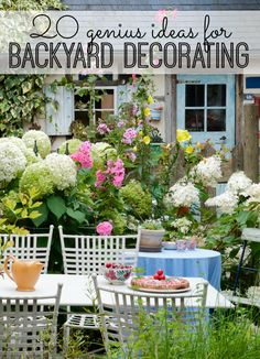 Check out these 20 genius ideas for backyard decorating. :) | outdoor decor