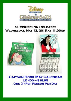 Captain Hook May Calendar Pin Released Today