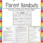 This packet of informational handouts is aimed at parents of children in grades K-2.  Each subject-themed sheet contains tips, ideas, and strategie...