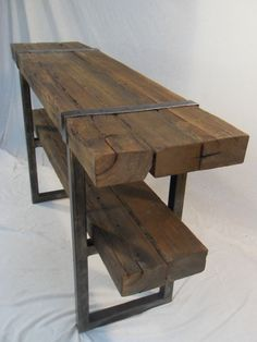 Pinning this cool table for my sister to see! Make this for an entry table? Or make it out of barn wood?