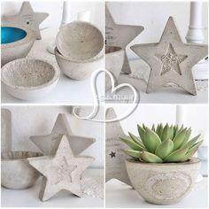 Concrete flowerpot and decoration