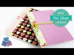 Como Hacer un Mini Album Scrapbook Tutorial DIY FACIL Cartonaje español Pintura Facil - YouTube