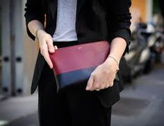 Image result for celine two tone clutch