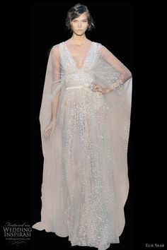 elie saab wedding dress fall 2011 couture