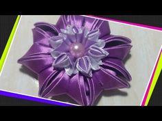 Нежные резиночки для волос из узкой ленты. Канзаши /МК/Hand мade/DIY/ Kanzashi - YouTube