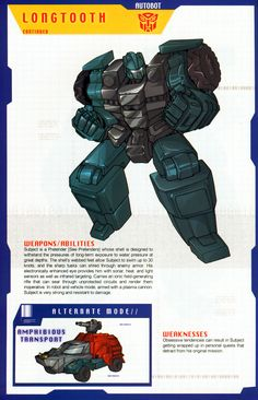 Autobot Pretender Longtooth Bio Part 2