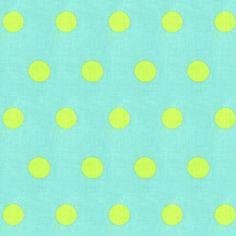 Indoor Dots 6 - Algodón - turquesa