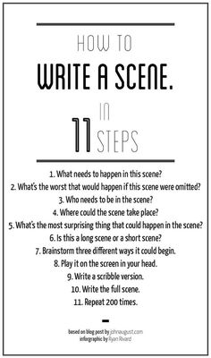 How to write a scene in 11 steps, by John August #filmmaking