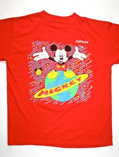 Vintage Early 90s Disneyland Mickey Mouse Shirt. $22.00